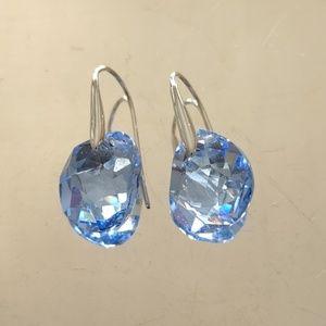 Swarovski Crystal Aquamarine Earrings